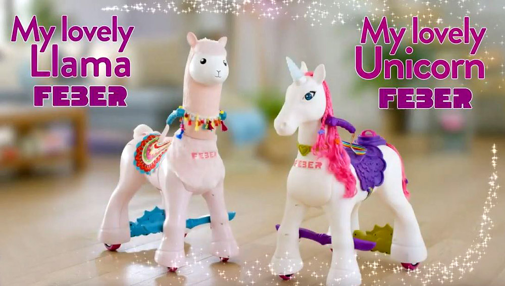 My lovely Llama y My lovely Unicorn juntos, ambos de FEBER.