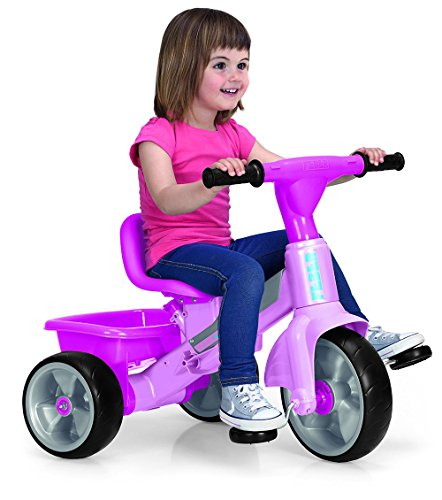 FEBER- Tryke Baby Plus Music Pink, Triciclo (Famosa 800010210)