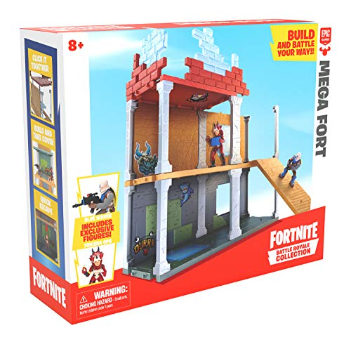 Fortnite 63511 Battle Royale Collection Mega Fort y 2 figuras exclusivas de Tricera Ops y Blue...
